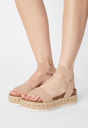 KATNISS - Platform sandals - nude