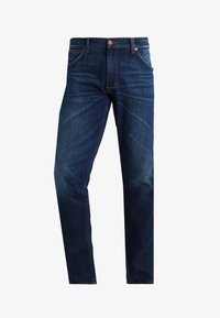 Wrangler - GREENSBORO - Straight leg jeans - dark-blue denim, light-blue denim - 5