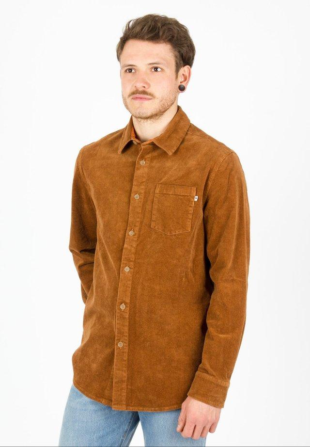 Overhemd - brandy