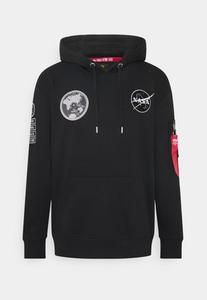 NASA VOYAGER HOODY - Sweatshirt - black