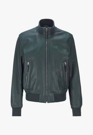 NEOVEL - Leather jacket - light green