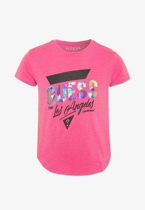 JUNIORHIGH LOW - T-shirt z nadrukiem - pop pink