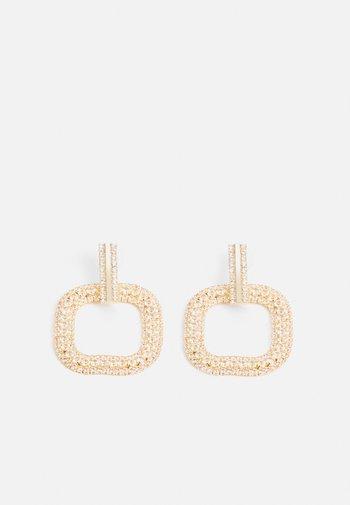 ONLBRIA STRASS EARRINGS - Earrings - gold-coloured