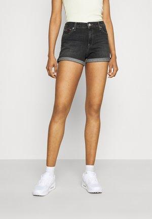 MID RISE  - Denim shorts - denim black