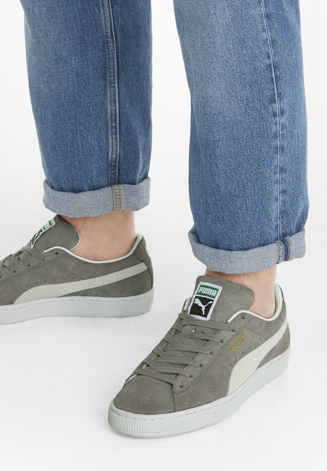 SUEDE CLASSIC - Baskets basses - steel gray-puma white