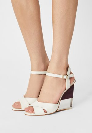 VANILAN - Wedge sandals - ivoire