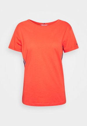 THEA TEE - Print T-shirt - bright vermillion