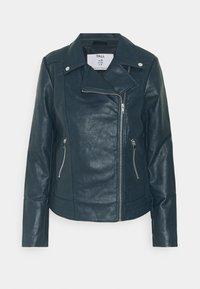 Dorothy Perkins Tall - BIKER JACKET - Faux leather jacket - petrol - 0