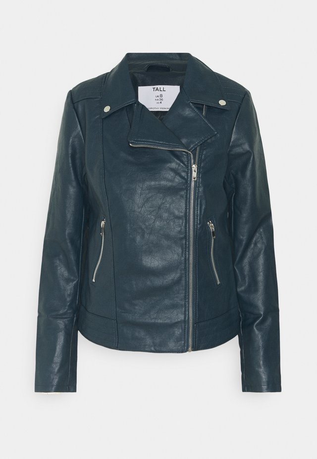 BIKER JACKET - Faux leather jacket - petrol