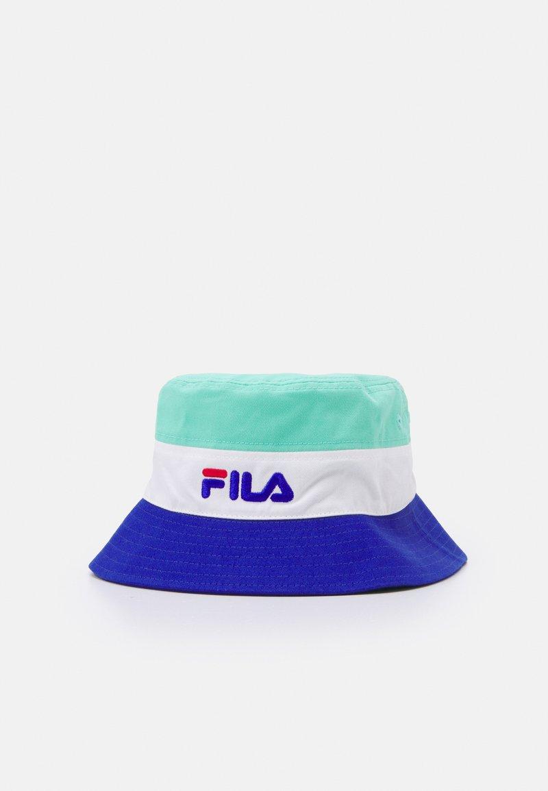 Fila - BLOCKED BUCKET HAT UNISEX - Sombrero - mint/white/blue