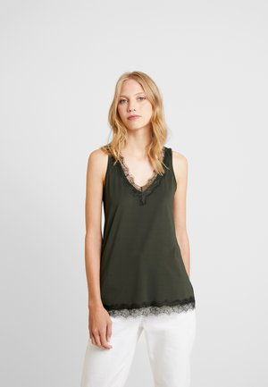 Top - black/green