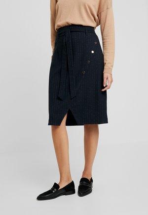 ELISABETH - Pouzdrová sukně - bleu marine