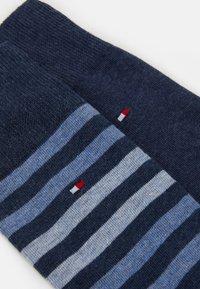Tommy Hilfiger - MEN DUO STRIPE SOCK 2 PACK - Chaussettes - blue denim - 1