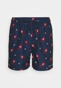 Ben Sherman - TURQUOISE BAY - Swimming shorts - navy/red/white - 2