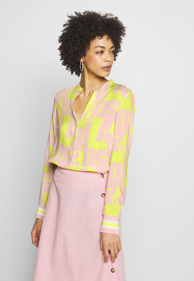 BLUSE - Bluse - pink yellow