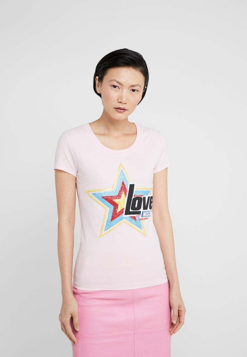 Love Moschino - Triko spotiskem - pink