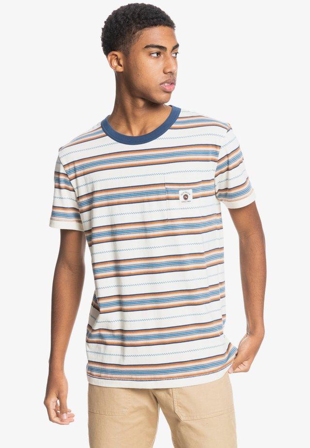 Print T-shirt - anthique white guytou