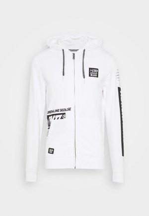 Zip-up hoodie - bright white