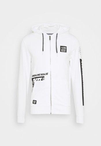 Zip-up sweatshirt - bright white