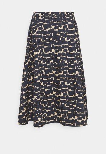 MIDI - A-line skirt - navy