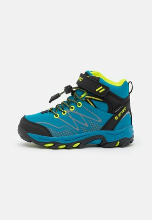 BLACKOUT MID WP JR UNISEX - Hiking shoes - saphire/black/lime