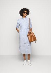 Lauren Ralph Lauren - BROADCLOTH DRESS - Shirt dress - blue/white multi - 1