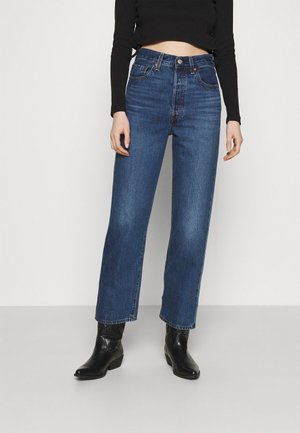 RIBCAGE STRAIGHT ANKLE - Jeansy Straight Leg - noe fog