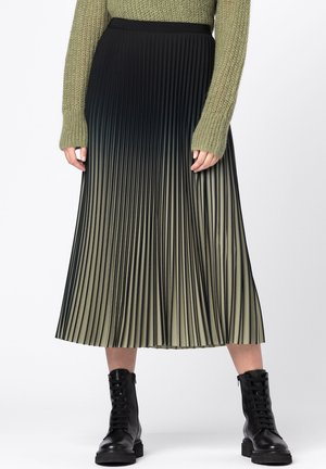 MIT FARBVERLAUF - Pleated skirt - lindengrün