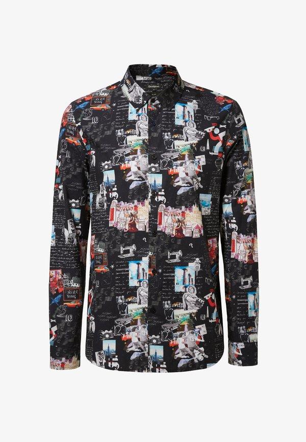 Desigual CAM ABELARDO - Koszula - black/czarny Odzież Męska LZQX