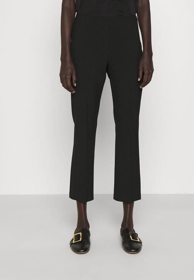 META - Spodnie materiałowe - black