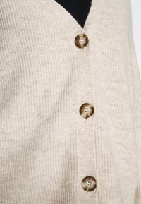 Marc O'Polo - CARDIGAN LONGSLEEVE SADDLE SHOULDER BUTTON CLOSURE - Cardigan - sandy melange - 5