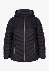 Zizzi - GESTEPPTE MIT KAPUZE UND TASCHEN - Light jacket - black - 0