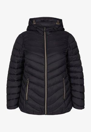GESTEPPTE MIT KAPUZE UND TASCHEN - Light jacket - black