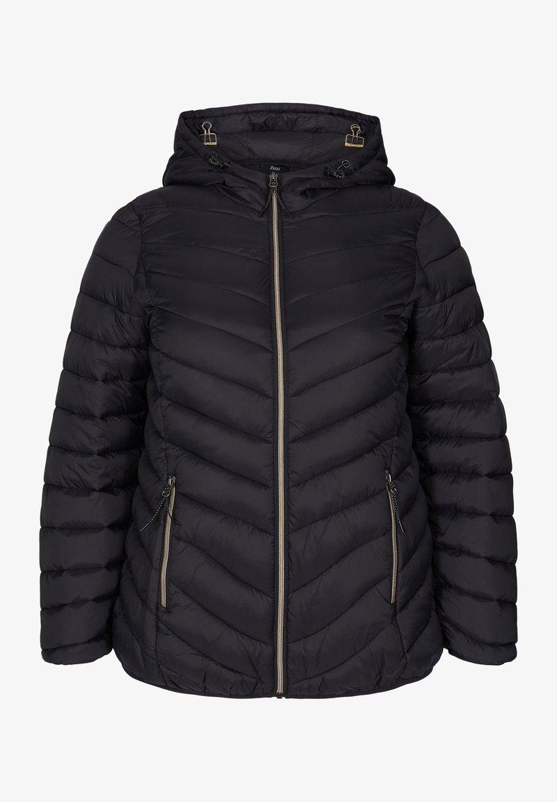 Zizzi - GESTEPPTE MIT KAPUZE UND TASCHEN - Light jacket - black