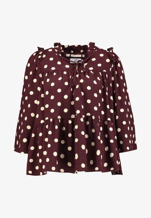 BLOUSE SLEEVE - Blus - bordeaux