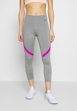 ONE CROP - Tights - iron grey/fire pink/black