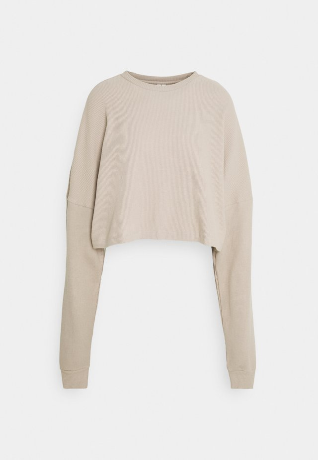 CROPPED STRUCTURED - Mikina - beige