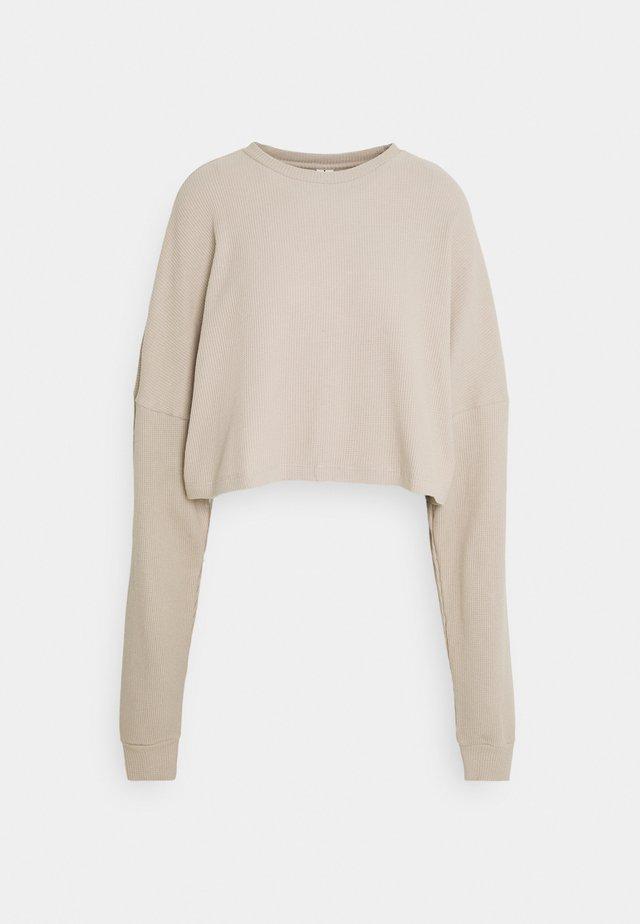 CROPPED STRUCTURED - Bluza - beige