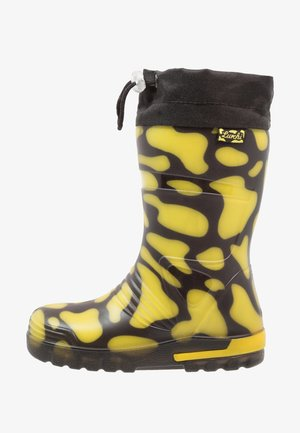 PLATSCHI - Wellies - black/yellow