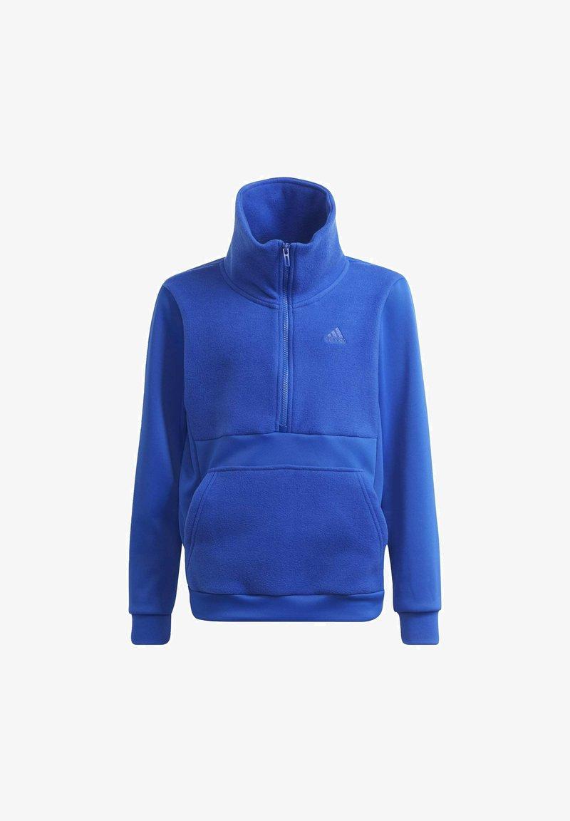 adidas Performance - DESIGNED TO MOVE OBERTEIL - Zip-up sweatshirt - blue