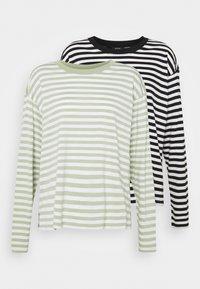 Monki - MAJA 2 PACK - Long sleeved top - black dark - 4