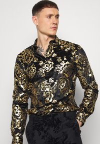 Twisted Tailor - HARTFIELD  - Shirt - black/gold - 3