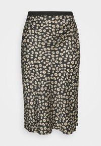 FLORAL PRINT SKIRT - Pencil skirt - black/white