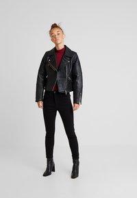 River Island Petite - CATO JACKET - Faux leather jacket - black - 1