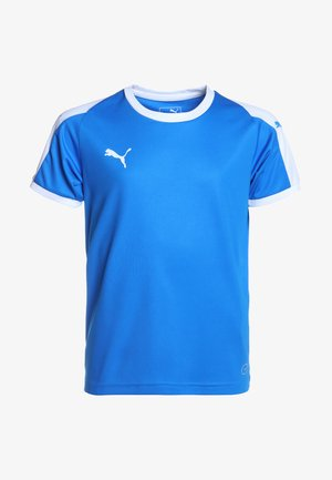 LIGA  - Camiseta de deporte - electric blue lemonade/white