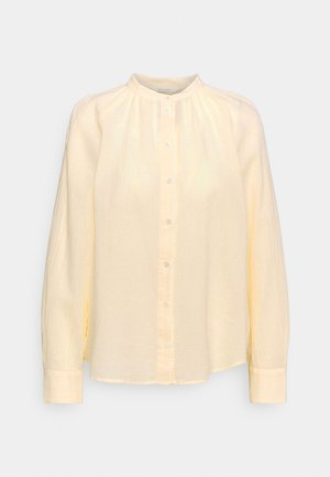BLOUSE LONG SLEEVE - Button-down blouse - light yellow