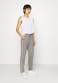 Opus - MORIEL PEPITA - Trousers - iron grey melange - 1