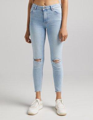 Skinny džíny - blue denim