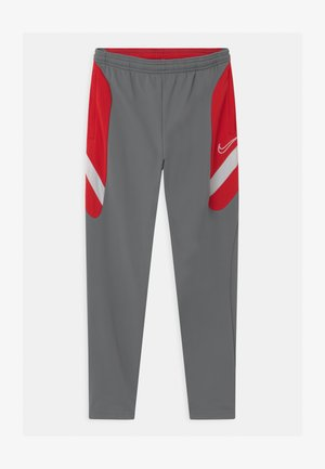 DRY ACADEMY - Tracksuit bottoms - smoke grey/university red/darkk smoke grey