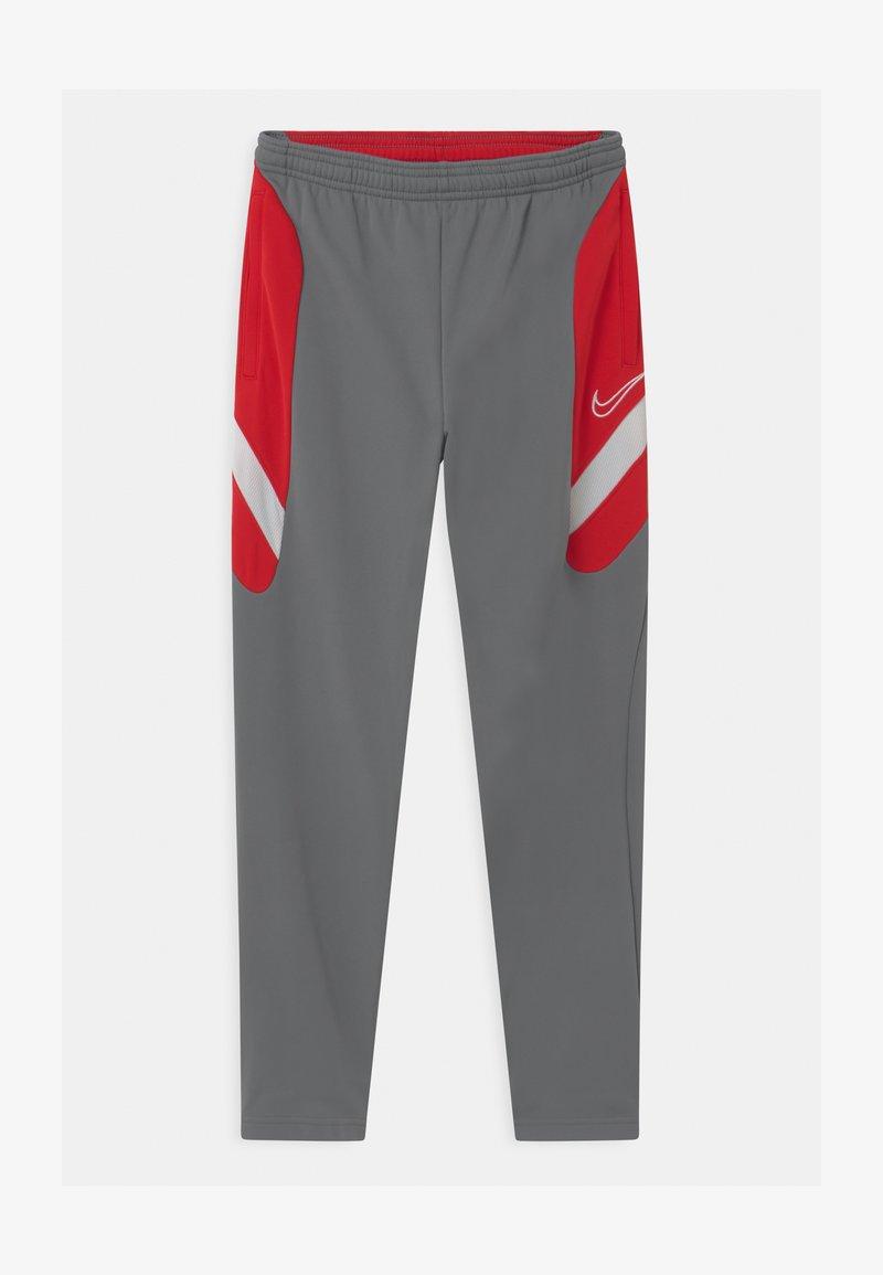 Nike Performance - DRY ACADEMY - Tracksuit bottoms - smoke grey/university red/darkk smoke grey